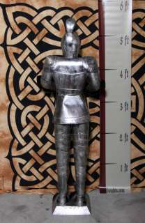 Foot SILVER Suit of Armor Knight   Sword & Shield