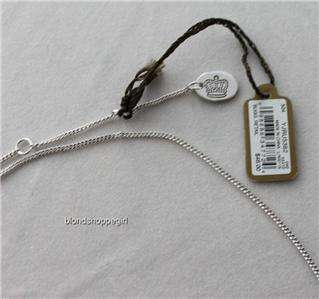 Couture SILVER PEGASUS CRYSTAL WISH NECKLACE WINGS Gift HORSE Charm