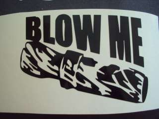 BLOW ME DUCK HUNTING CAR TRUCK DECAL *NEW*