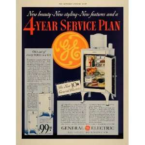 1933 Ad General Electric Monitor Top Refrigerator Home
