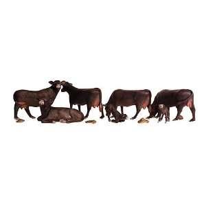 HO Black Angus Cows Toys & Games