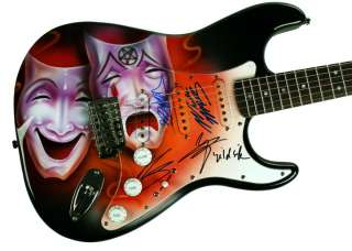 Motley Crue Autographed Airbrushed Signed Guitar
