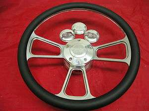 14 Half Wrap Billet Steering Wheel Set CUSTOM YEAR CAP