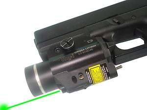 Tactical Flashlight & Green Laser Sight Combo Weaver Mount 4 Pistol