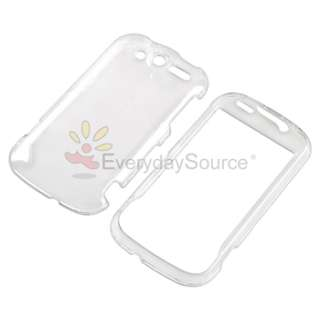 For HTC Mytouch 4G Black Clear Hard Case Privacy Film Charger Holder