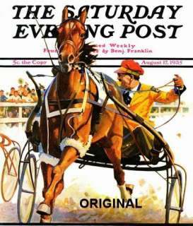 Post Magazine Harness Racer Cross Stitch Pattern Horses