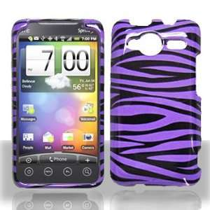 HTC EVO Shift 4G Purple/Black Zebra Hard Case Snap on