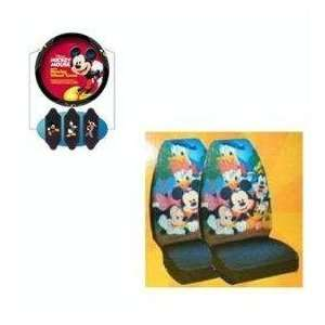 and Steering Wheel Covver   Disney Mickey Mouse Donald Duck and Goofy