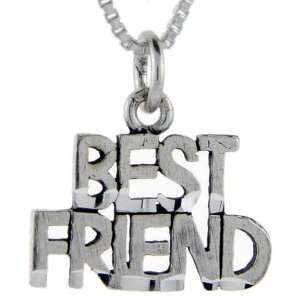 925 Sterling Silver Best Friend Talking Pendant (w/ 18 Silver Chain