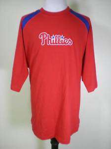 New MLB Philadelphia Phillies Patch Shirt Large XL 2XL