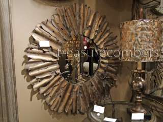 Gold Sunburst Beveled Metal Wall Mirror Horchow