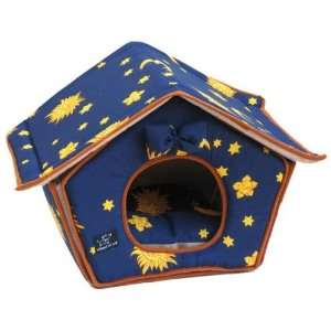 Best Pet Dog House Bed Moons and Stars Pattern Size 18 in