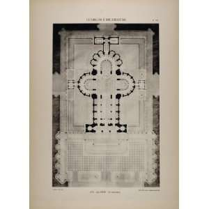 1902 Print 1878 Architect Blavette Cathedral Floor Plan