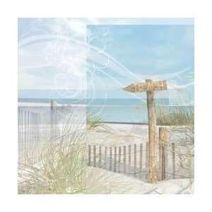 New   Beach Paper 12X12   Beach Sign by Paper House Arts