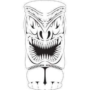 TIKI 3 FACE/GOD AIRBRUSH STENCIL AIR BRUSH TEMPLATE ART