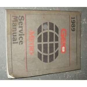 1989 Chevrole Chevy Geo Mero Service Shop Manual OEM gm