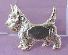 12 Vintage Copper Silver Gold Tone Metal SCOTTIE Dog PIN
