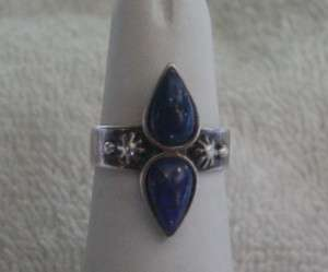 Carolyn Pollack Sterling Silver Blue Lapis Ring Size 7