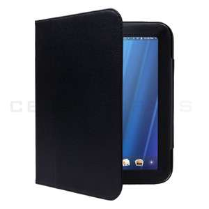 Black Leather Case Cover With Stand For HP TouchPad