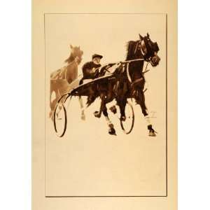 1926 Ludwig Hohlwein Harness Racing Sulky Horse Poster