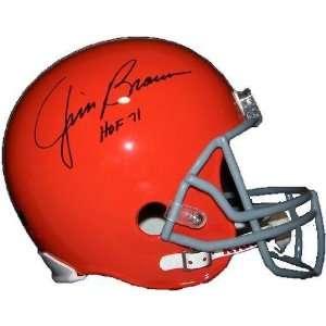 Jim Brown Autographed HOF 71 Cleveland Browns Fullsize