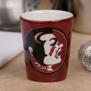 Seminoles (FSU) Garnet Gold Ceramic Shot Glass