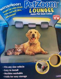 PET ZOOM LOUNGEE  AUTO PET SEAT COVER  WATERPROOF  MACHINE WASHABLE