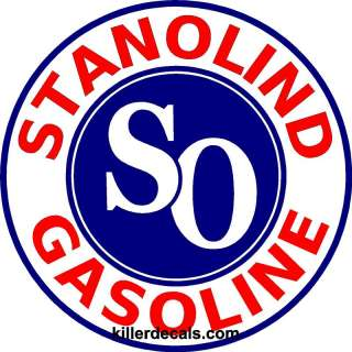 24 STANOLIND AMOCO GASOLINE GAS PUMP OIL TANK DECAL