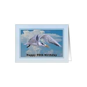Happy Birthday, 90th, Royal Tern Bird Card Toys & Games