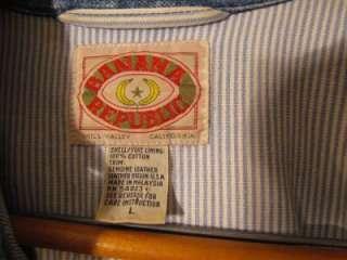 Banana Republic Denim Dress Women Lrg, Long Sleeve, suede leather