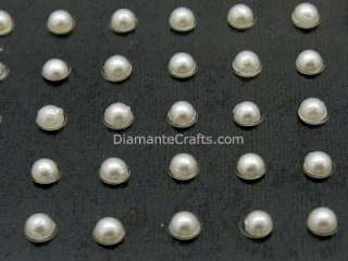 BODY CRYSTAL white PEARLS self adhesive gem vajazzle rhinestone