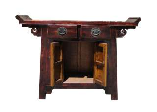 description this is an oriental style altar side table with point edge