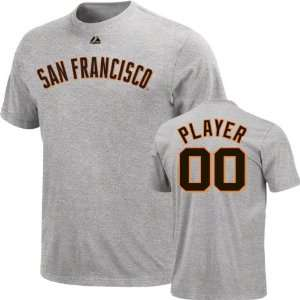 San Francisco Giants  Any Player  Heather Name & Number T Shirt