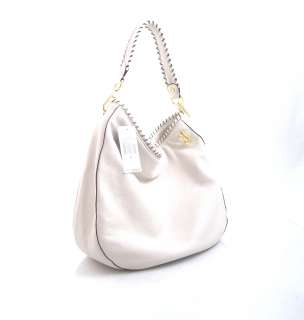 MICHAEL KORS Large VANILLA Off White Leather BENNET Shoulder Bag