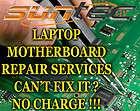Dell Latitude D620 D630 D820 D830 Motherboard Repair Service All Makes