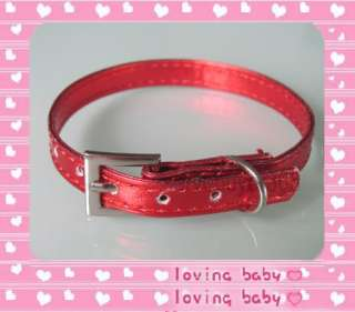 Colorful Leather Puppy Cat Pet Dog Collar X Small XS