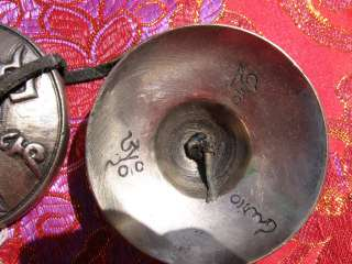 SUPERIOR EXTRA CRISP LETTERING OM TIBET BUDDHIST TINGSHA BELLS