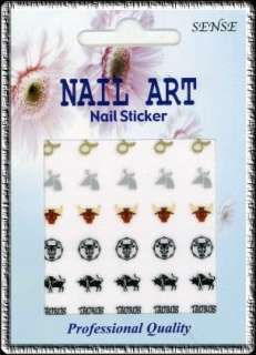 30 ZODIAC Sign TAURUS Nail Art DECAL Stickers