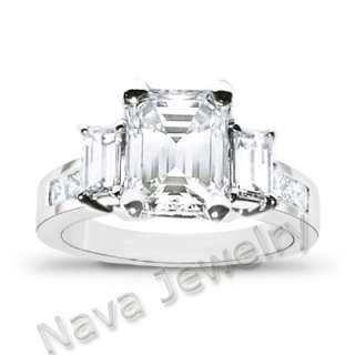 94 Ct. Emerald Cut Diamond Engagement Ring EGL G/VVS2