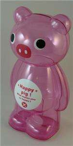 BIG LARGE CLEAR PLASTIC PINK PIG CHILDRENS PIGGY BANKS