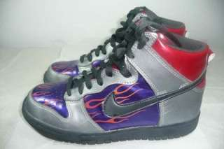 Boys Nike High Dunk Transformers Optimus Prime Shoes Size 4 Youth