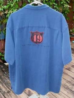 Fireman Fire Fighter Camp Shirt Cubavera Rayon blend
