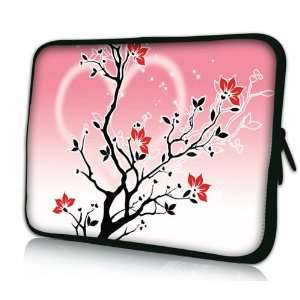 Tree DOUBLE Sided Print Design Pink Laptop Carrying Case Notebook