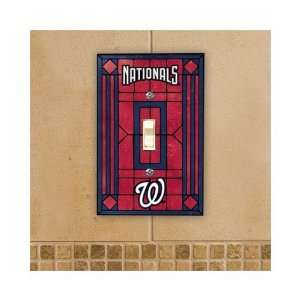 Washington Nationals   MLB Art Glass Single Switch Plate Cover