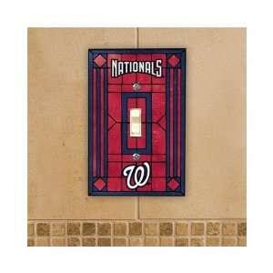 Washington Nationals   MLB Art Glass Single Switch Plate Cover