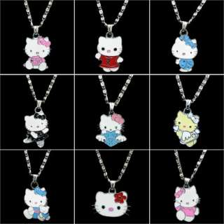 9pcs Lovely HelloKitty Necklace Girl Kids Birthday Party Gift
