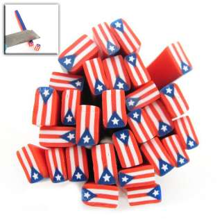 20x New Puerto Rico Flag Nail Art Decals Fimo Rod Canes 250041