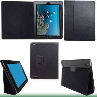 Black PU Leather Case Pouch Cover w/Stand for Apple iPad 2