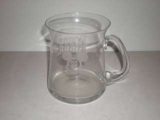 Mouse Etched PEGGE Name Logo Cyrstal Glass Mug Cup Stein Large