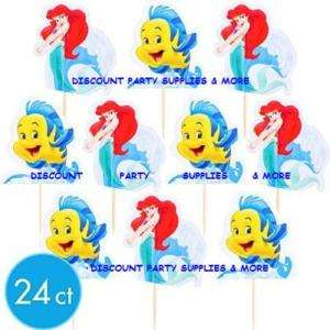 Disney Little Mermaid Ariel Fun Pix Cupcake Picks